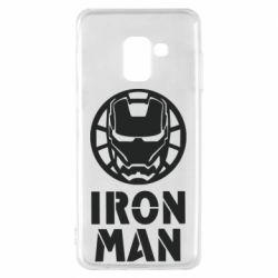 Чохол для Samsung A8 2018 Iron man text