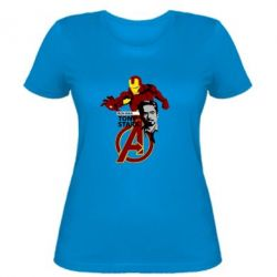 Женская футболка Iron Man-Tony Stark