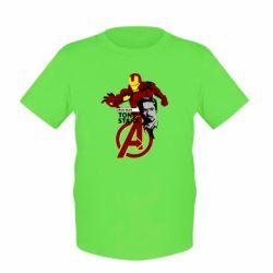 Детская футболка Iron Man-Tony Stark