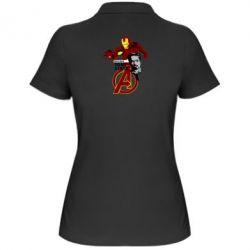 Женская футболка поло Iron Man-Tony Stark