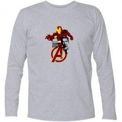 Футболка с длинным рукавом Iron Man-Tony Stark