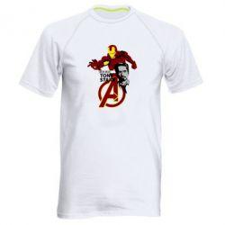 Мужская спортивная футболка Iron Man-Tony Stark