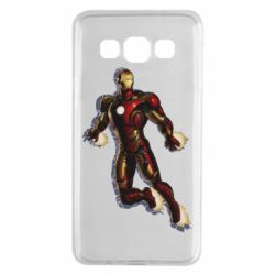 Чехол для Samsung A3 2015 Iron man with the shadow of the lines