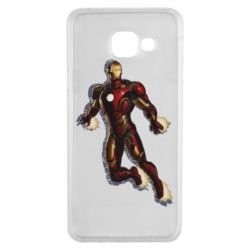 Чехол для Samsung A3 2016 Iron man with the shadow of the lines