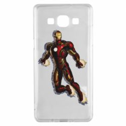 Чехол для Samsung A5 2015 Iron man with the shadow of the lines