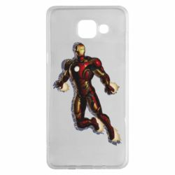 Чехол для Samsung A5 2016 Iron man with the shadow of the lines