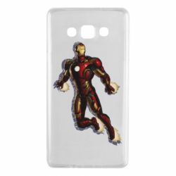 Чехол для Samsung A7 2015 Iron man with the shadow of the lines