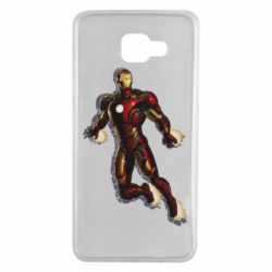Чехол для Samsung A7 2016 Iron man with the shadow of the lines