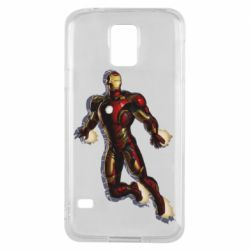 Чохол для Samsung S5 Iron man with the shadow of the lines