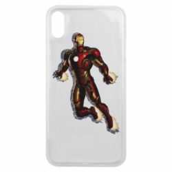 Чехол для iPhone Xs Max Iron man with the shadow of the lines