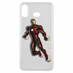 Чехол для Samsung A6s Iron man with the shadow of the lines