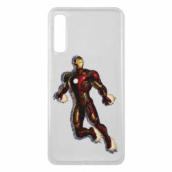 Чехол для Samsung A7 2018 Iron man with the shadow of the lines