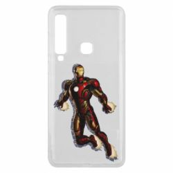 Чехол для Samsung A9 2018 Iron man with the shadow of the lines