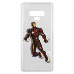 Чехол для Samsung Note 9 Iron man with the shadow of the lines