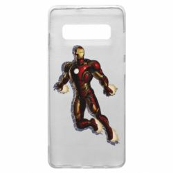 Чохол для Samsung S10+ Iron man with the shadow of the lines
