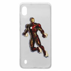 Чехол для Samsung A10 Iron man with the shadow of the lines