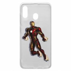 Чехол для Samsung A30 Iron man with the shadow of the lines