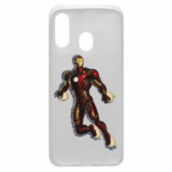 Чехол для Samsung A40 Iron man with the shadow of the lines