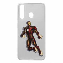 Чехол для Samsung A60 Iron man with the shadow of the lines