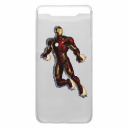 Чехол для Samsung A80 Iron man with the shadow of the lines