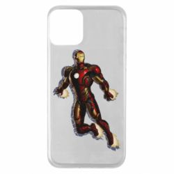 Чехол для iPhone 11 Iron man with the shadow of the lines