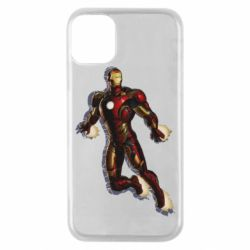 Чехол для iPhone 11 Pro Iron man with the shadow of the lines