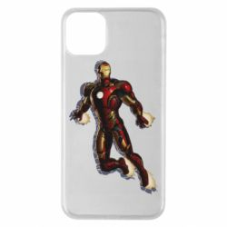 Чехол для iPhone 11 Pro Max Iron man with the shadow of the lines