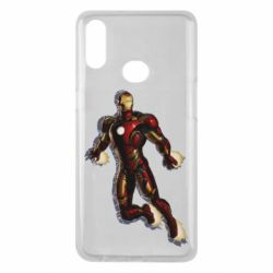 Чохол для Samsung A10s Iron man with the shadow of the lines