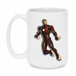 Кружка 420ml Iron man with the shadow of the lines