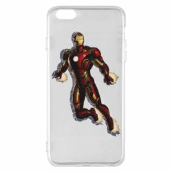 Чехол для iPhone 6 Plus/6S Plus Iron man with the shadow of the lines