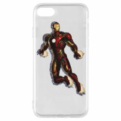 Чехол для iPhone 7 Iron man with the shadow of the lines