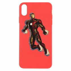 Чехол для iPhone X/Xs Iron man with the shadow of the lines