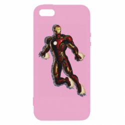Чохол для iphone 5/5S/SE Iron man with the shadow of the lines