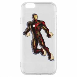 Чехол для iPhone 6/6S Iron man with the shadow of the lines