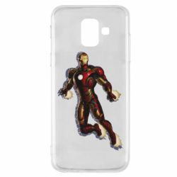 Чехол для Samsung A6 2018 Iron man with the shadow of the lines