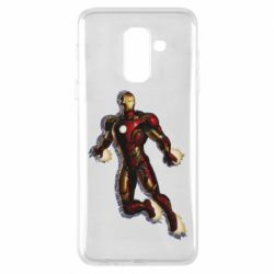 Чехол для Samsung A6+ 2018 Iron man with the shadow of the lines