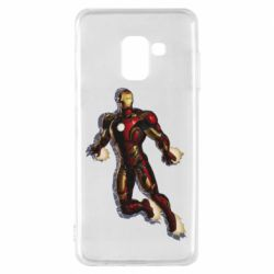 Чохол для Samsung A8 2018 Iron man with the shadow of the lines