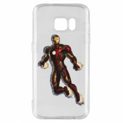 Чохол для Samsung S7 Iron man with the shadow of the lines