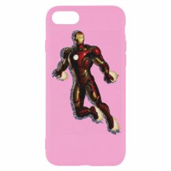Чехол для iPhone 8 Iron man with the shadow of the lines
