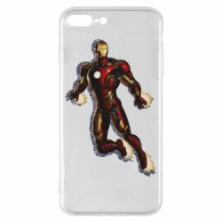 Чехол для iPhone 8 Plus Iron man with the shadow of the lines
