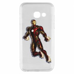 Чехол для Samsung A3 2017 Iron man with the shadow of the lines