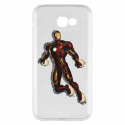 Чехол для Samsung A7 2017 Iron man with the shadow of the lines