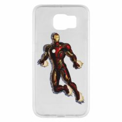 Чохол для Samsung S6 Iron man with the shadow of the lines