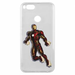 Чехол для Xiaomi Mi A1 Iron man with the shadow of the lines