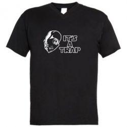 Мужская футболка  с V-образным вырезом It's a TRAP - FatLine
