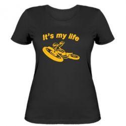 Женская футболка It's my moto life - FatLine
