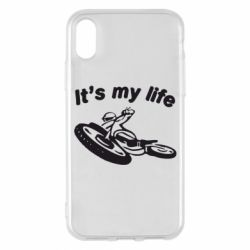Чехол для iPhone X It's my moto life - FatLine