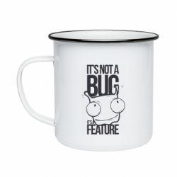 Кружка эмалированная It's not a bug it's a feature