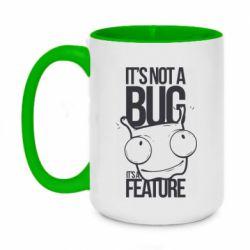 Кружка двухцветная 420ml It's not a bug it's a feature