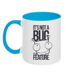 Кружка двухцветная 320ml It's not a bug it's a feature
